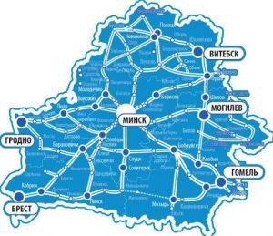 Карта доставки по Беларуси