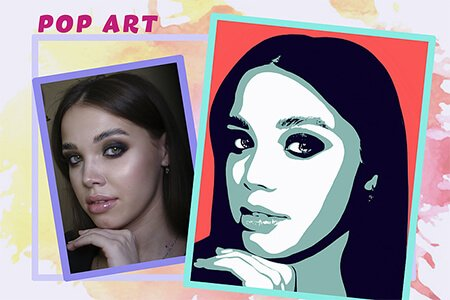 Портреты Pop Art по фотографии
