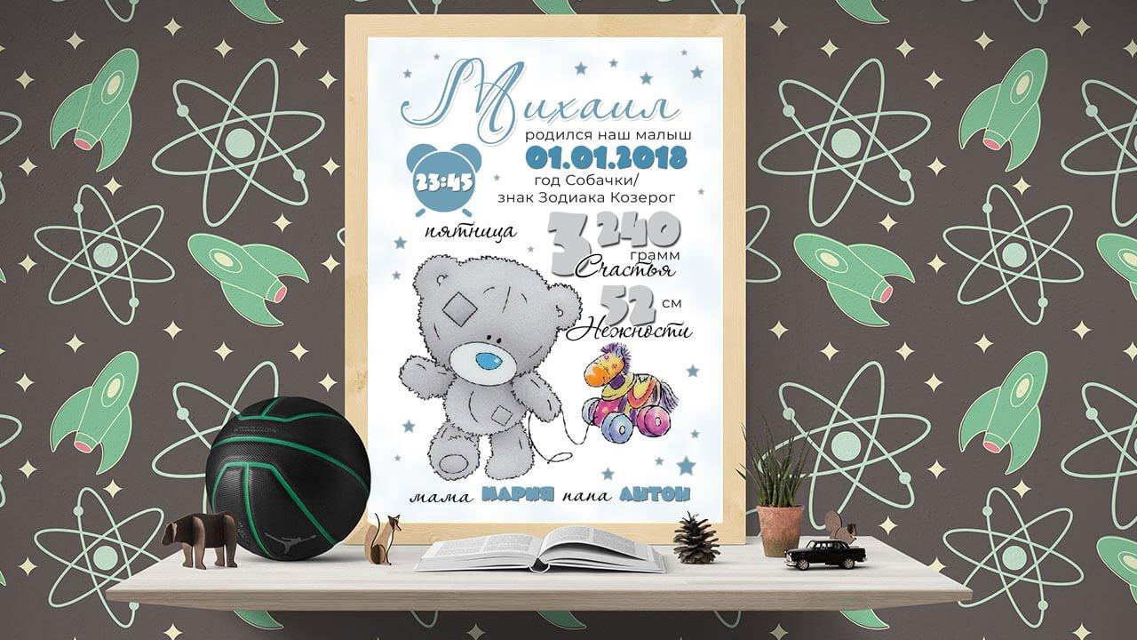 Купить постер-метрику в Минске