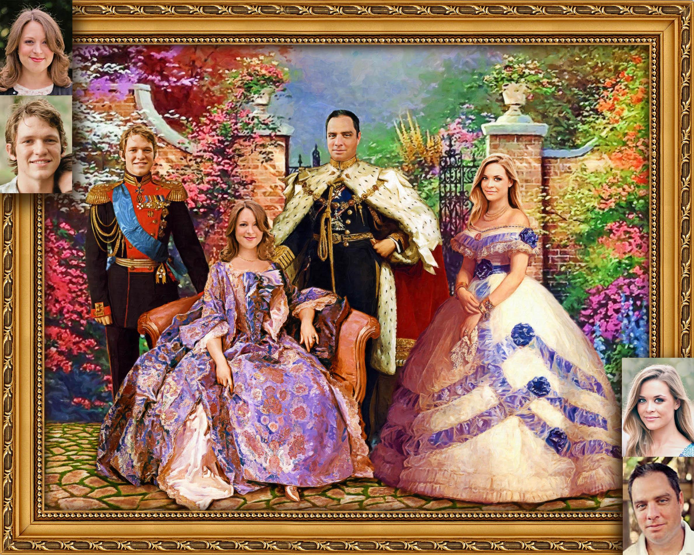 Семейный портрет по фотографиям на заказ