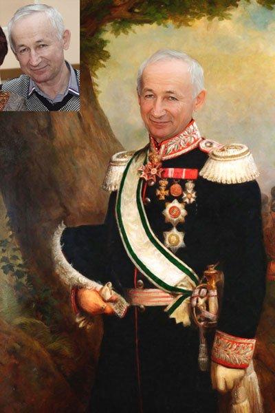 Портрет в образе полководца по фото